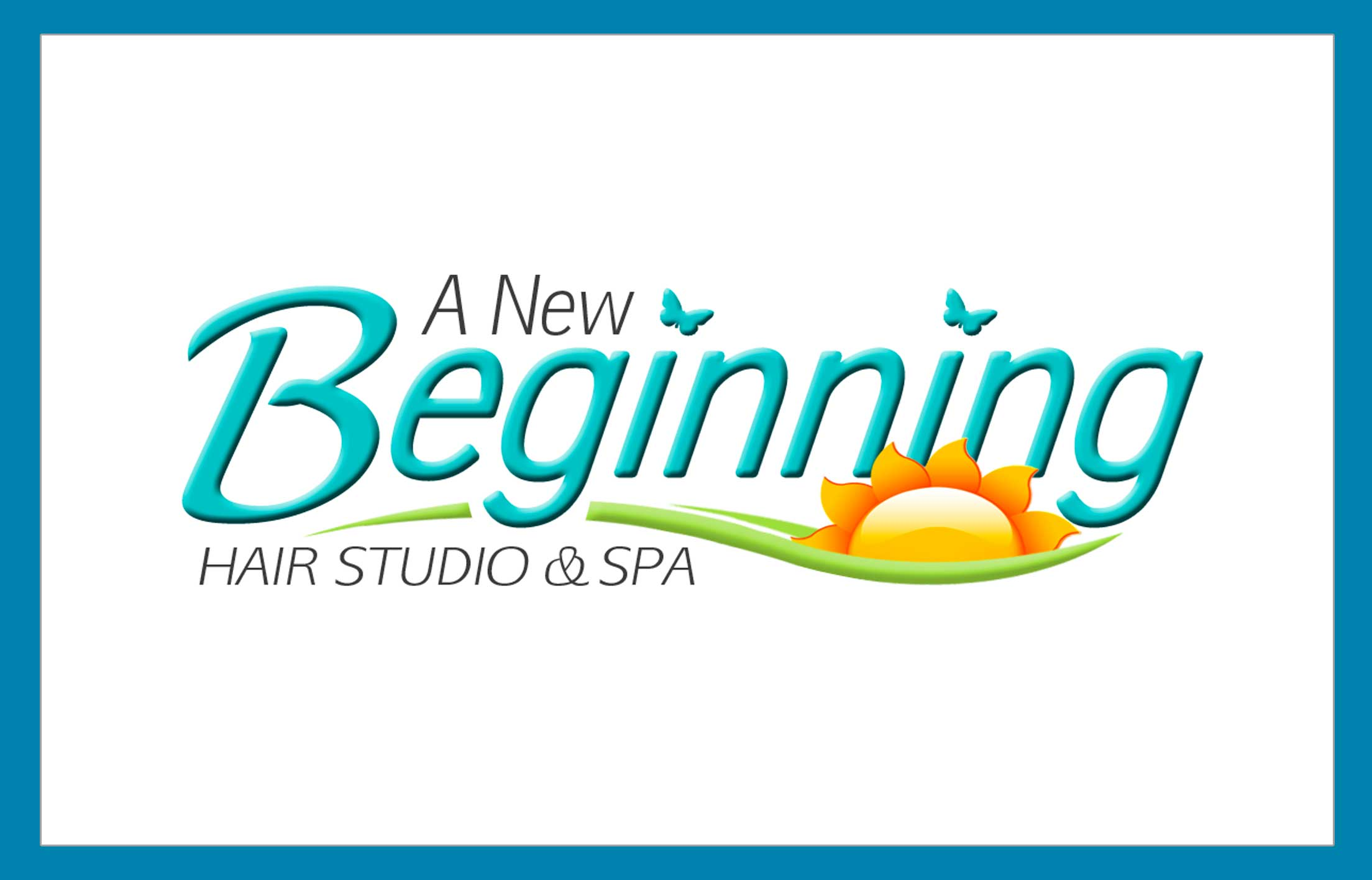 Our work right eye graphics for A new beginning salon